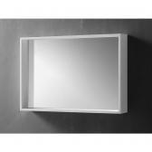 [거울] 마르지아 화이트 직사각 아크릴 욕실 화장대 현관 벽 거울 (600x400x90) HSL-M03L