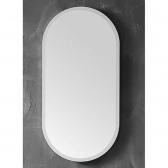 [거울] 오드리 화이트 라운드 아크릴 욕실 화장실 세면대 벽 거울 (400x800x24) HSL-M17L