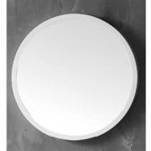 [거울] 애슐리 화이트 라운드 아크릴 욕실 화장실 세면대 원형 벽 거울 (500x500x24) HSL-M15