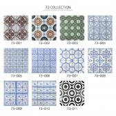 [수입 아트타일] 정사각형 북유럽 패턴 모자이크 타일 73-001~011 1박스(11장)