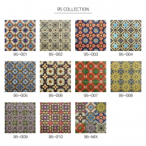 [수입 아트타일] 정사각형 북유럽 패턴 모자이크 폴리싱 타일 95-001~010/랜덤 1박스(12장) 유광