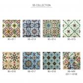 [수입 아트타일] 정사각형 북유럽 패턴 모자이크 폴리싱 타일 95-011~018/랜덤 1박스(12장) 유광