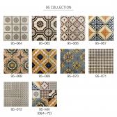 [수입 아트타일] 정사각형 북유럽 패턴 모자이크 폴리싱 타일 95-064~072/랜덤 1박스(12장) 유광