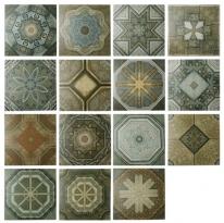 [아트타일] 정사각형 북유럽 랜덤 패턴 모자이크 타일 200x200 1박스(25장) 22049