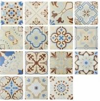 [아트타일] 정사각형 북유럽 랜덤 패턴 모자이크 타일 200x200 1박스(25장) 22033