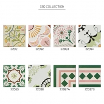 [아트타일] 정사각형 북유럽 패턴 모자이크 타일 22091~22097B 1박스(25장) 무광