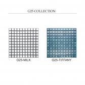 [모자이크타일] 정사각형 정각 레트로 타일 밀크/티파니 유광 1박스(11장) G25