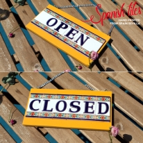 스페니쉬 타일 윤식당 도어사인 S 스페인 개업선물