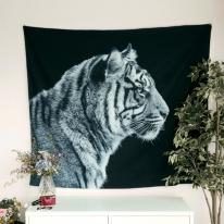 태피스트리 벽장식 패브릭 포스터 - 호랑이 (150x130cm)