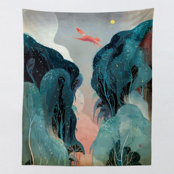 태피스트리 벽장식 패브릭 포스터 - 밸리 (130x150cm)