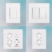 제일전기공업 하네스 와이드형 전등 전기 스위치 콘센트 커버 매입