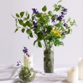 썸머포레스트 실크플라워 중형 화병세트 스칸디아모스화병 습도조절 공기정화식물