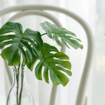 (단품) 베이비 몬스테라 인테리어 조화 2잎 조화픽