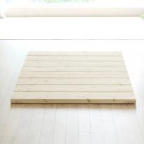 리베라 편백나무 원목 마루 깔판형 침대프레임 슈퍼싱글