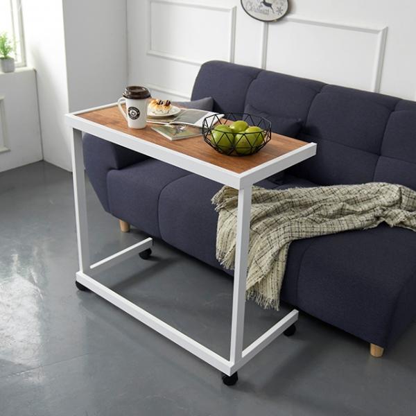 디모렐 멀바우 이동식 소파 테이블 840