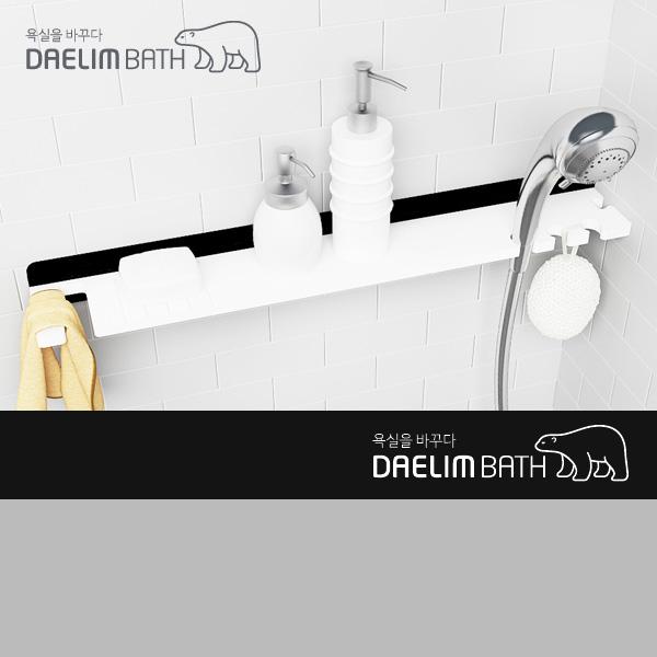 대림바스 인조대리석 욕실선반 DL-A8015 블랙&화이트