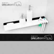 대림바스 인조대리석 욕실선반 DL-A8016 블랙&화이트