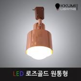 LED 로즈골드 원통 레일형 (전구별도구매)