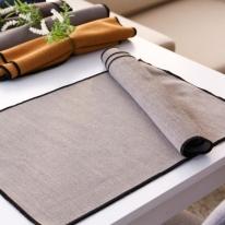 비해피 징코 방수 테이블매트 Gray 식탁매트