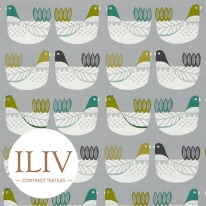 ILIV Cluck Cluck Fabric Kiwi 영국수입원단/원단