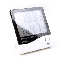 [HICKIES] 대형화면 디지털 온습도계 시계 HTC-1