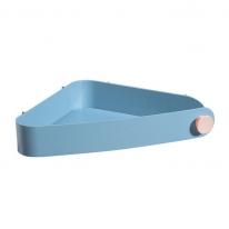 욕실 공간활용 파스텔 벽선반 삼각형 코너 수납함