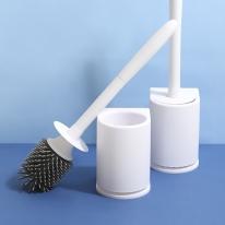 욕실청소 브러쉬 위생적인 TPR 실리콘 벽걸이 변기솔