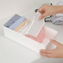 드레스룸 속옷 양말 깔끔한 서랍 칸막이 수납정리함 M