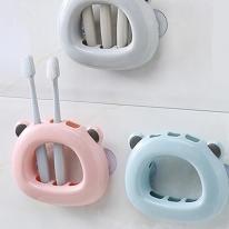 흡착 곰돌이 칫솔걸이 칫솔꽂이 욕실용품 핑크 ABM