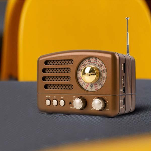 음향장비 이어폰 블루투스 스피커 브라운 BT116 컴스