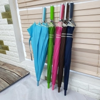 폰지미색바이어스 자동 장우산 (색상랜덤)