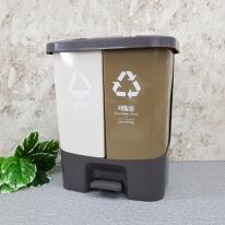 페달형 분리수거 쓰레기통 40L