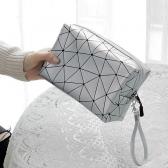 ABM 패션 사각 큐브 파우치 실버