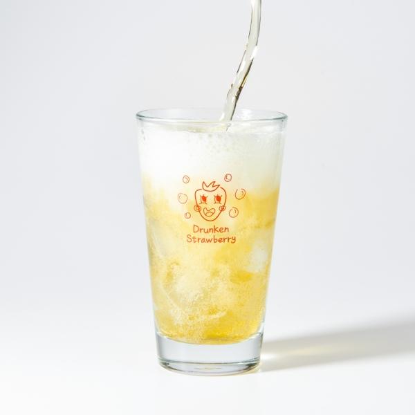 홈카페컵 드렁큰후르츠 딸기 맥주잔 (410ml)