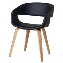 모던 스마일 인테리어 원목 의자