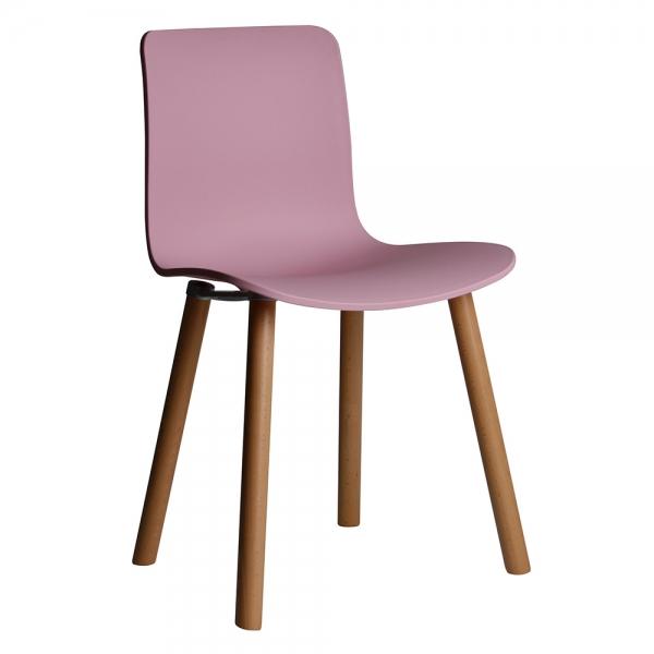 심플 파스텔 인테리어 원목 의자