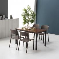 멜로우 1400 스틸 카페 테이블