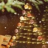크리스마스 코튼볼 라인듀 50구 벽트리 세트
