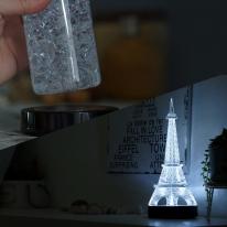 감성캠핑 누름식 LED 받침조명 (검정케이스/백색)