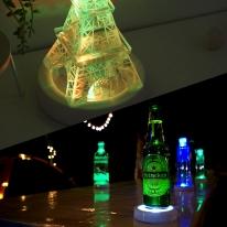 감성캠핑 누름식 LED 받침조명 (백색케이스/컬러혼합)