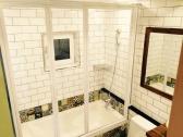 [아쿠월] 욕조부스 화장실 샤워커튼 욕조 위 샤워부스