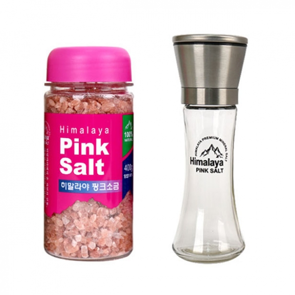 히말라야 핑크소금 400g + 그라인더 선물세트