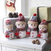 크리스마스장식 뜨개모자 눈사람 인형 2P