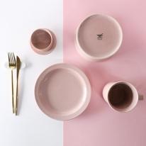 하스 플레이팅 핑크 식기세트