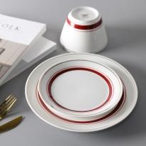 라인 접시 2size, 2color