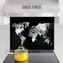 [주방아트보드] 월드문 세계지도 : 블랙 갤럭시