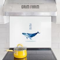 [주방아트보드] 파란 고래 : 화이트 외 3종