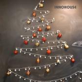 크리스마스 벽트리 100구 LED 앵두전구 풀세트