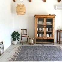 로프트 테슬 사계절 면 거실 침실 러그 물세탁_150x200cm