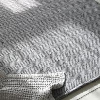 헤링본 사계절 거실 침실 러그 물세탁 150x150cm